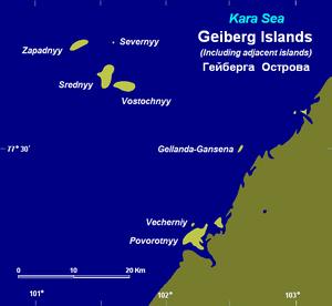 Heiberg Islands - The Heiberg Islands and adjacent coastal islands