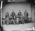 Gen. Jefferson Davis, Gen. William B. Hazen, Gen. Oliver O. Howard, Gen. John A. Logan, Gen. Joseph A. Mower, Gen.... - NARA - 528684.tif