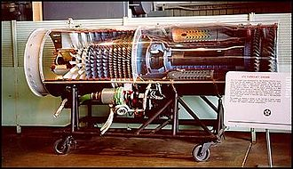 General Electric J73 - Cutaway of a J73 at the NMUSAF