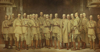 British Army during World War I - General Officers of World War I, painting by John Singer Sargent (1922).