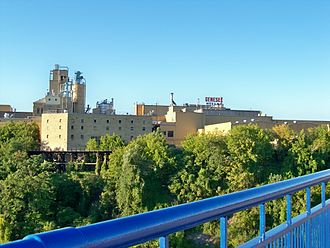 Genesee Brewing Company - Genesee Brewery on a bluff above the Genesee River in Rochester, New York