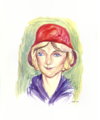 Gentle Woman in Red Cloche Hat.png