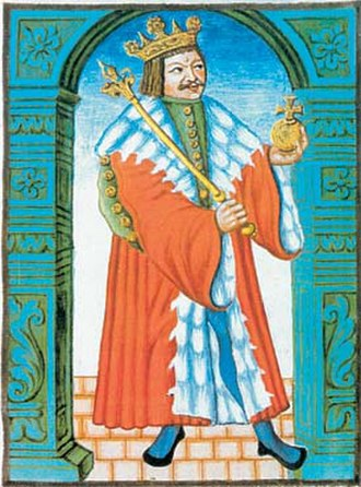 George of Poděbrady - Jiří of Poděbrady depicted in a codex from 1607