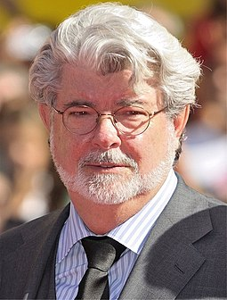 George Lucas made much of his fortune by retaining his rights to the franchise's merchandising. George Lucas cropped 2009.jpg