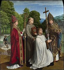 Canon Bernardijn Salviati and Three Saints