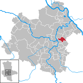 Location of Gerbitz within Salzlandkreis