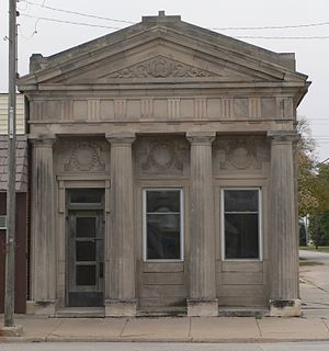 National Register of Historic Places listings in Seward County, Nebraska - Image: Germantown State Bank from N