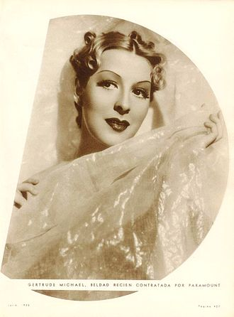 Gertrude Michael - Gertrude Michael in July 1935