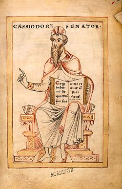 Gesta Theodorici - Flavius Magnus Aurelius Cassiodorus (c 485 - c 580).jpg