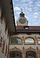 Gewerkenegg Castle courtyard clock.jpg