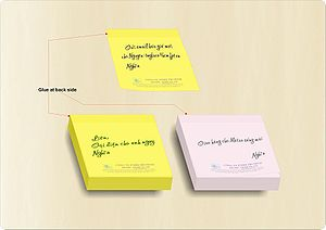 Gi?y ghi vi?c in s?n-Preprinted Post it notes