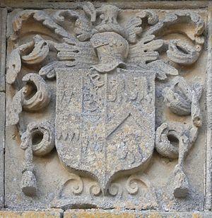 John Giffard (1602–1665) - Image: Giffard Arms Brightley Barton Porch Devon