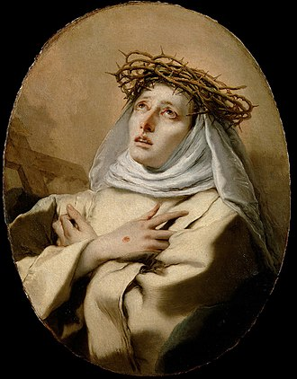 Catherine of Siena - St. Catherine of Siena,  by Giovanni Battista Tiepolo