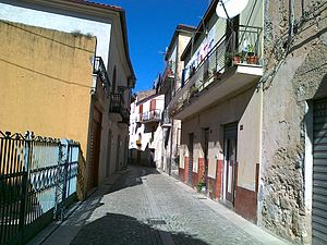 Giungano - A road in the old town