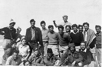 """Hadera - Members of Yiftach Brigade 1st Battalion, """"D"""" company stationed at Givat Olga. 1948"""