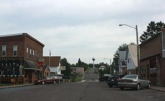 Glidden, Wisconsin - Looking east at downtown Glidden