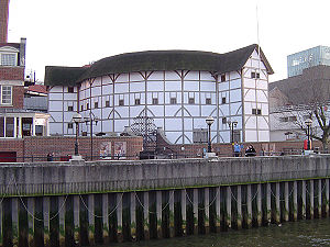 Shakespeare in performance -  Reconstructed Globe theatre London