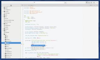 GNOME Builder - Image: Gnome Builder 3.18 Adwaita