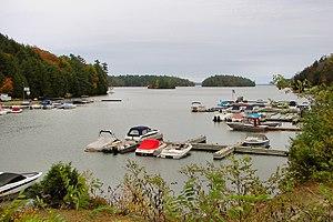 Lake Joseph - Marina at Gordon Bay.