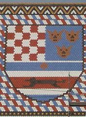 Detalj s krova Crkve sv. Marka na Gornjem Gradu u Zagrebu