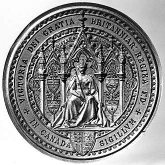 Great Seal of Canada - Image: Great Seal of Canada Queen Victoria