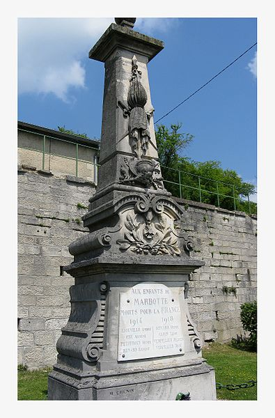 Great War Monument at Marbotte, France - near St. Mihiel
