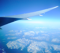 Greenland coast from 40000 feet from Norwegian Airlines 787 jet.png