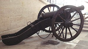 Canon de 12 Gribeauval - Canon de 12 Gribeauval in profile