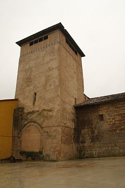 Former Grisaleña's castle tower, now part of the town's church