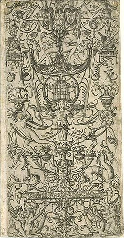 Grotesque engraving on paper, about 1500 - 1512, by Nicoletto da Modena