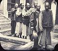 Group of men walking in a line outside the hospital, Changde, Hunan, China, ca.1900-1919 (IMP-YDS-RG008-358-0008-0075).jpg