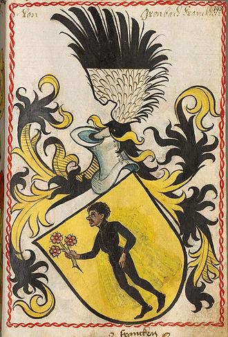 Wilhelm von Grumbach - Coat of arms of the von Grumbach noble family, Scheiblersches Wappenbuch, 1450-1480