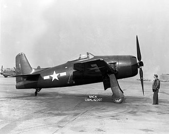 Grumman F8F Bearcat - An XF8F-1 prototype at the NACA Langley Research Facility in 1945.