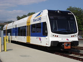River Line (NJ Transit) tram-train light rail system in southern New Jersey