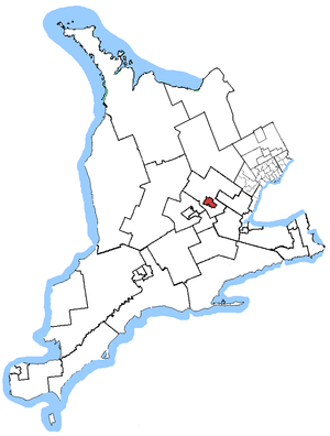Guelph (electoral district) - Guelph in relation to other Ontario electoral districts (2003 boundaries)