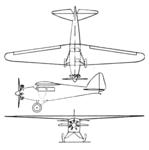 Guerchais-Henriot 5 3-view Aero Digest December 1929.png