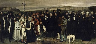 <i>A Burial At Ornans</i> painting by Gustave Courbet
