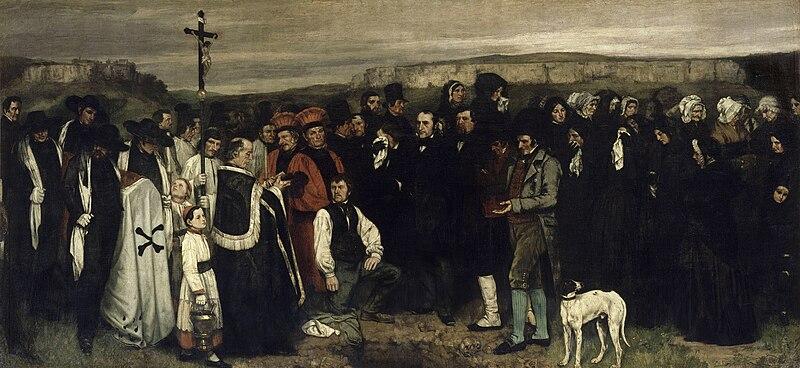 G. Courbet, Funerale a Ornans