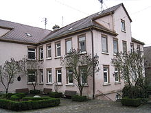 Wohnhaus der Familie Gok, ursprünglich der Schweizerhof, heute Hölderlinhaus, Neckarsteige1 in Nürtingen; hierher kehrte Hölderlin bis 1798 immer wieder zurück (Quelle: Wikimedia)