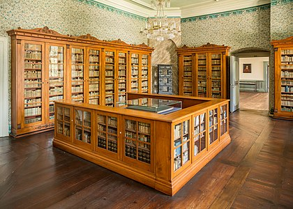 The princely library of Castle Corvey in Höxter, Germany