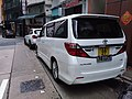 HK 上環新街 Sheung Wan New Street August 2018 SSG sidewalk carpark Toyota white.jpg