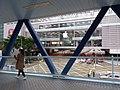 HK 中環 Central Waterfront promenade 民耀街 Man Yiu Street footbridge view March 2020 SSG 06.jpg