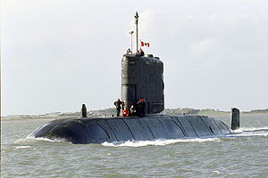 Attack submarine - HMCS ''Windsor'' is an attack submarine.