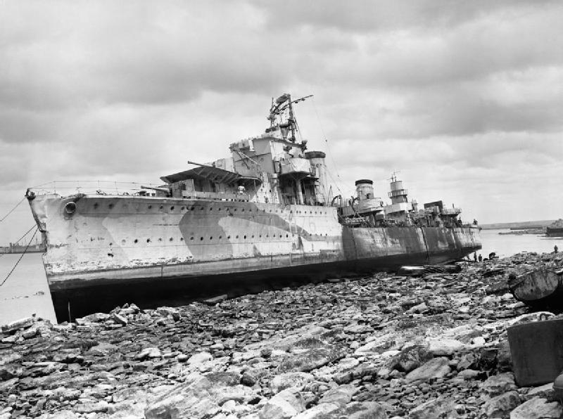 HMS Fury wrecked