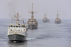 HMS Shoreham Leading a Convoy in the Middle East MOD 45154418.jpg