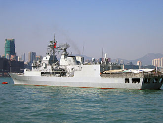 Royal New Zealand Navy - HMNZS Te Kaha in Hong Kong.
