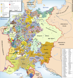 Imperial Estate - Map of the Holy Roman Empire in 1400