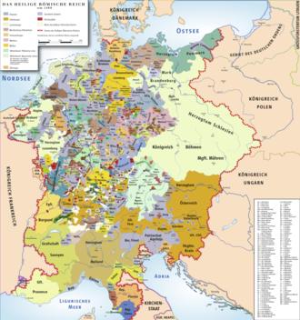 Das heilige römische reich um 1400