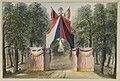 HUA-32540-Afbeelding van de achterzijde van de erepoort bij de zuidwestelijke ingang van de Maliebaan ter gelegenheid van het bezoek van kroonprins Willem en zi.jpg