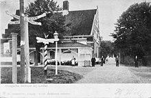 Het Haagsche Schouw op een ansichtkaart van Trenkler & Co. (ca. 1907)